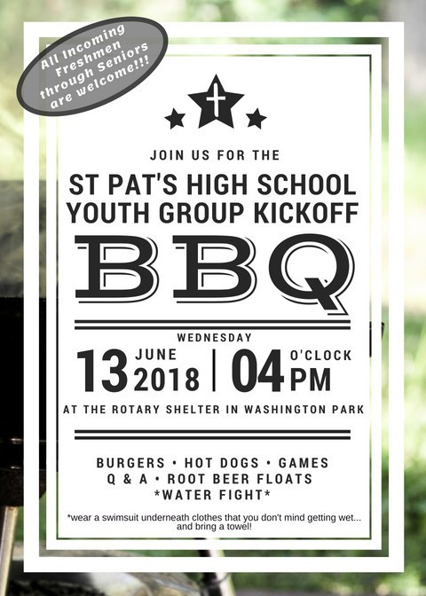 Spw High School Youth Group Kickoff Bbq